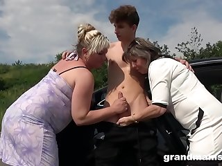 Two Grannies Just Fucked Me in Public!