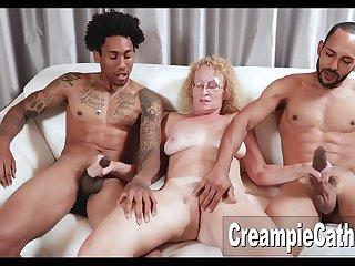 Massive BBC Creampie For Milf