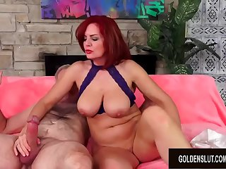Gorgeous Mature Beauty Andi James Gets Her Mouth Filled and Pussy Drilled