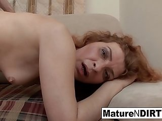 Redheaded mature gets fucked &_ rewarded with a facial