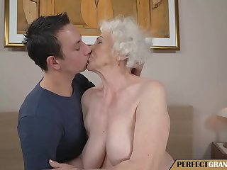 young man fucks a really old mother