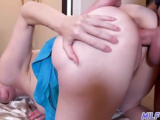 MILFTRIP Foot Fantasy and natural boobs excites young stud