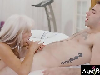 Sally D Angelos tender touches made Jake Adams fucked her old pussy rough and hard