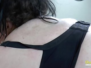 OldNannY Two Busty Lesbians Morning After Party