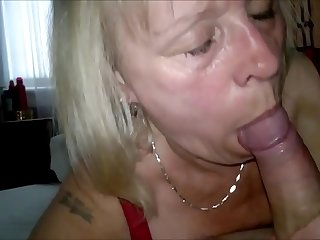 Passionate Cock Sucker Granny Homemade