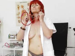 Goodlooking redhead matured nurses solo