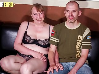 AMATEUR EURO  German Mature Veronika Takes Dick And Record This On Tape