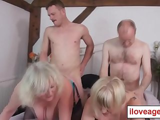 Claire and Trisha is having a sex party with two hot men