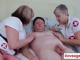 When I get old I want to be taken of these two old naughty nurses too!